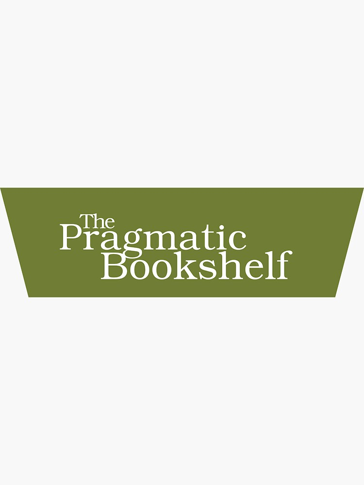 Green and White PragProg Tab Logo - Sticker by PragProg