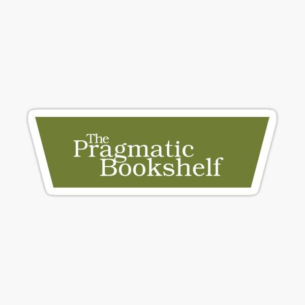 Green and White PragProg Tab Logo - Sticker Sticker