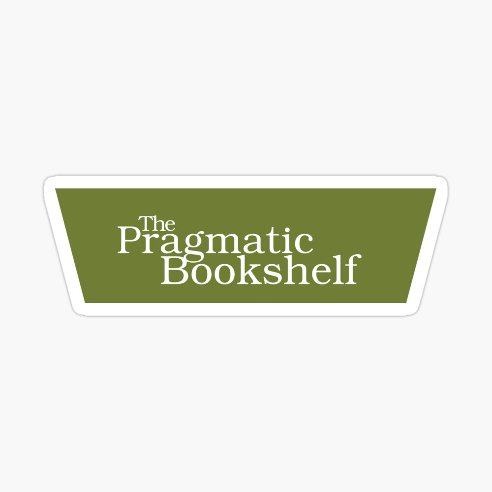 Green and White PragProg Tab Logo - Sticker Sticker