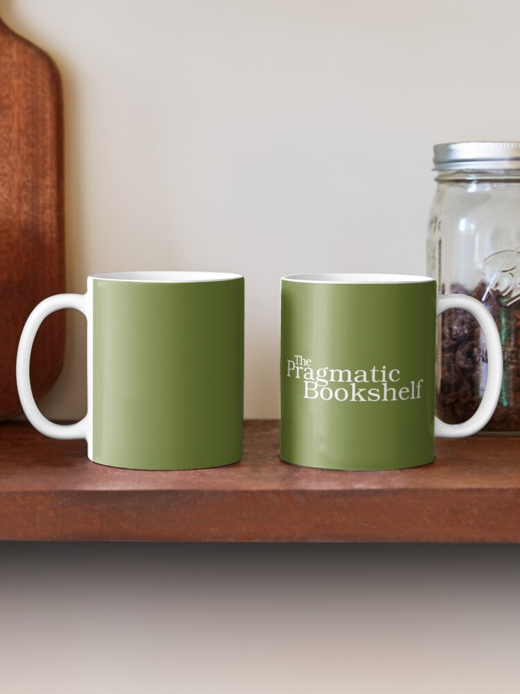Alternate view of Green and White PragProg Tab Logo - Mug Mug