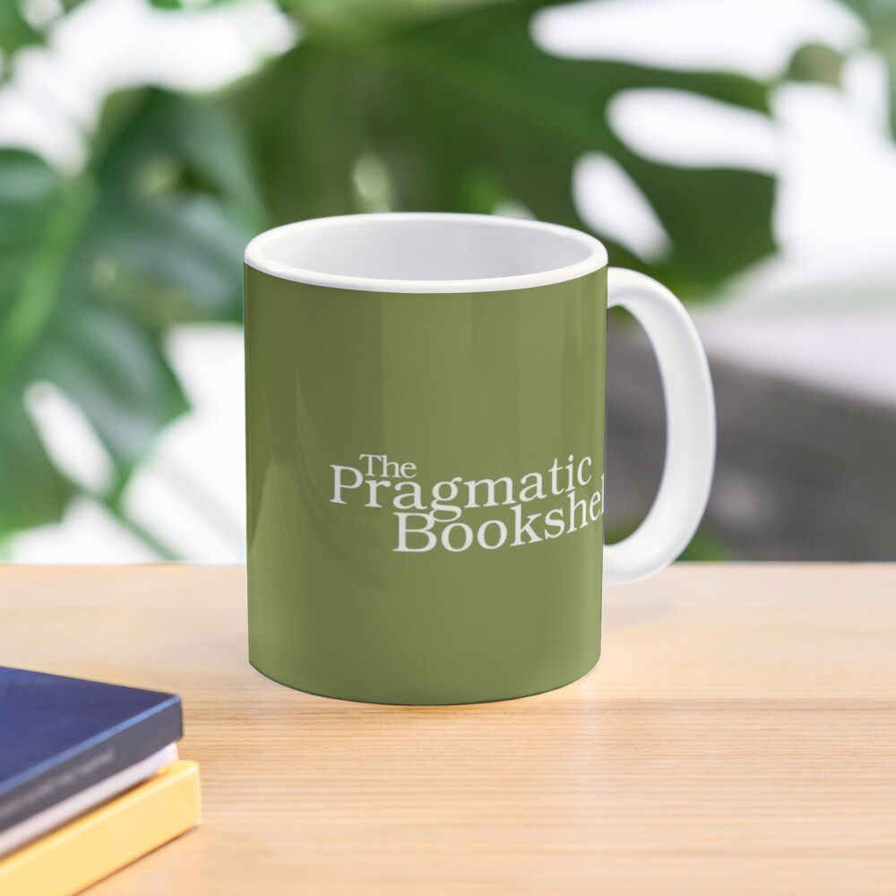 Green and White PragProg Tab Logo - Mug Mug