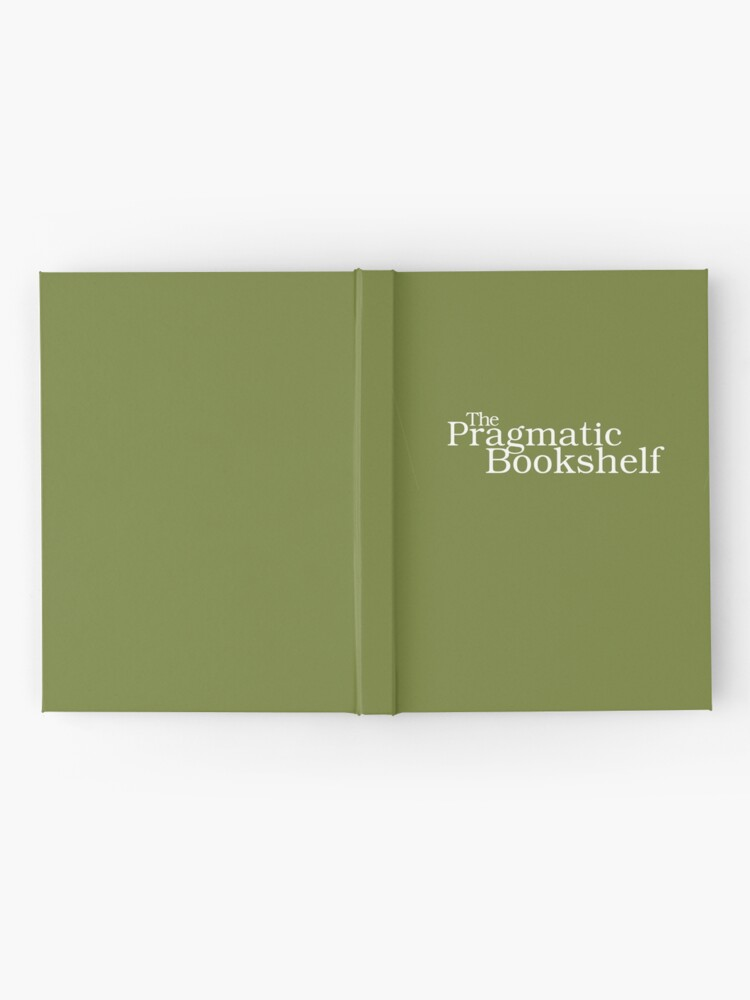 Alternate view of Green and White PragProg Tab Logo - Journal Hardcover Journal