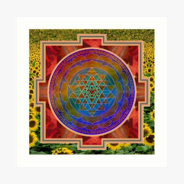 Yantra and the sunflower Art Print