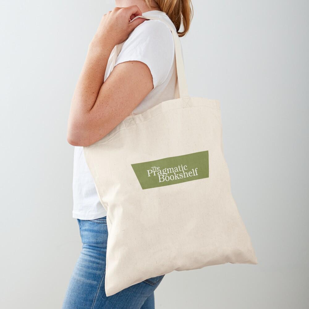 Green and White PragProg Tab Logo - Tote Tote Bag