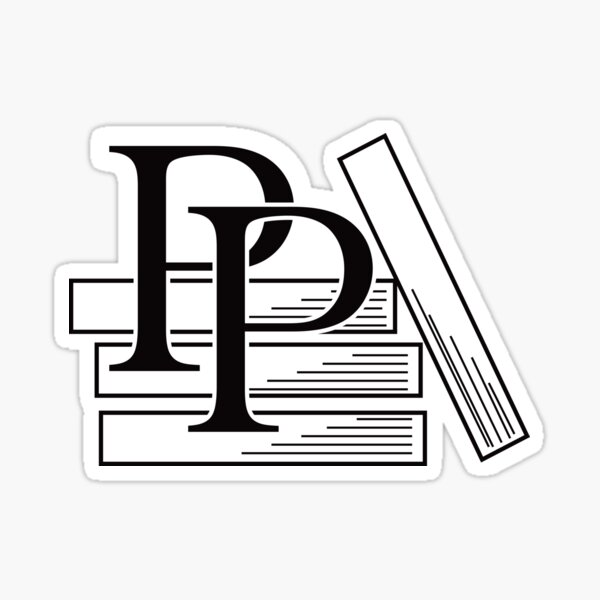 PragProg Books BW Logo - Sticker Sticker