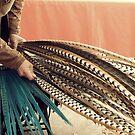 Weaving a headdress  by Morgan Koch