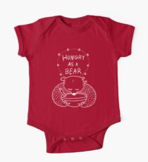 Hungry As A Bear (white outline) One Piece - Short Sleeve
