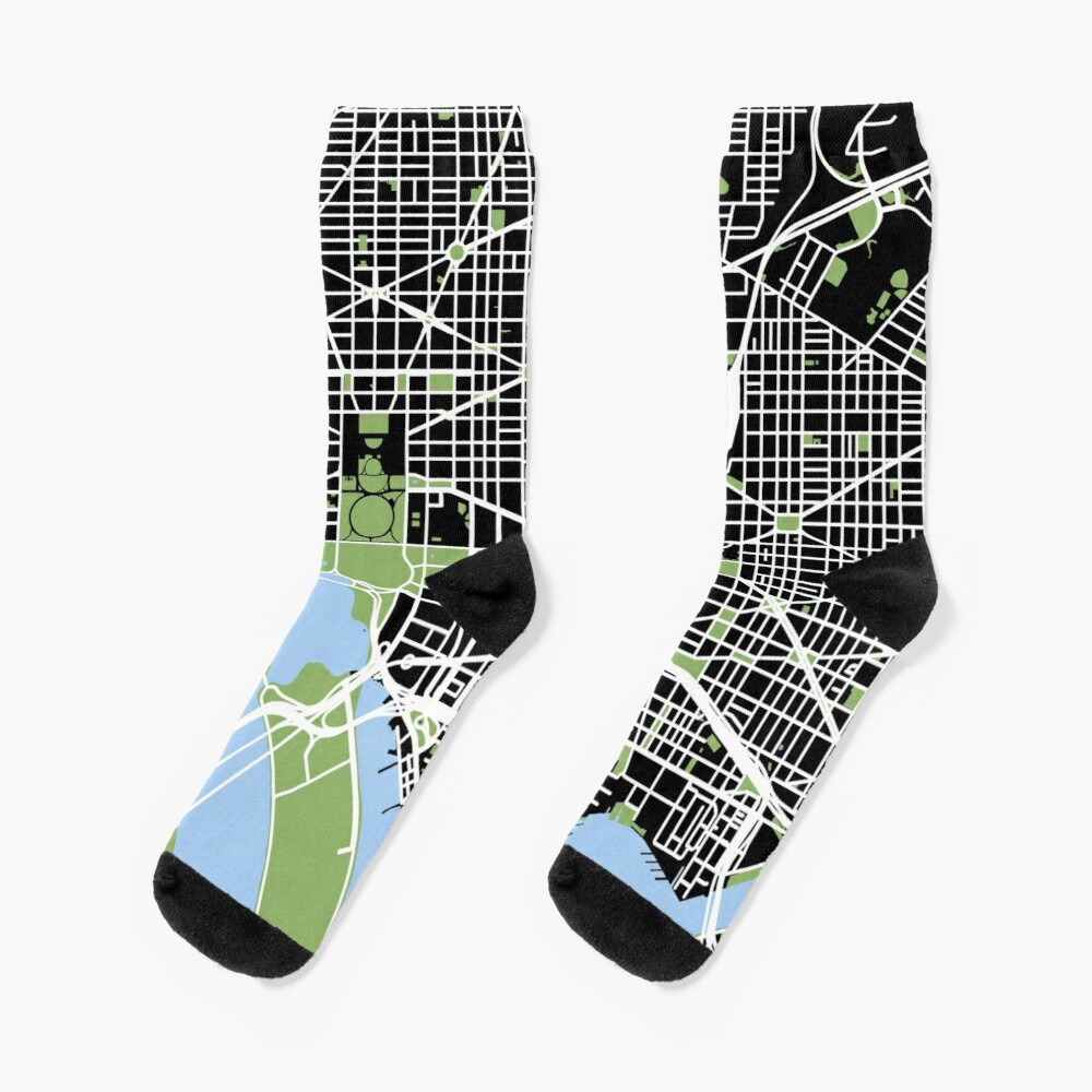 Map of Washington, DC Socks