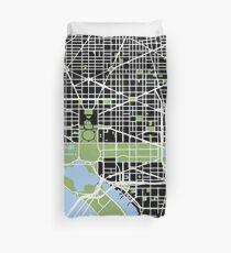 Map of Washington, DC Duvet Cover