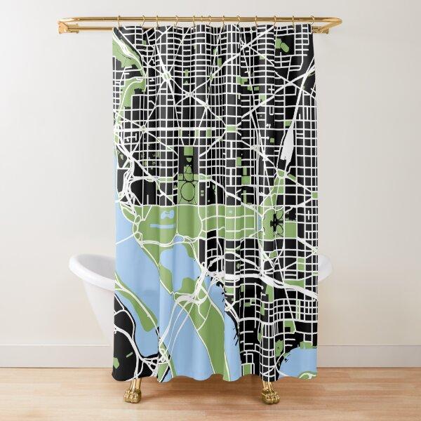 Map of Washington, DC Shower Curtain