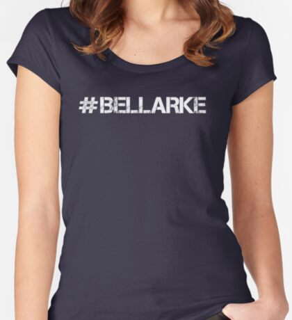 #BELLARKE (White Text) Women's Fitted Scoop T-Shirt