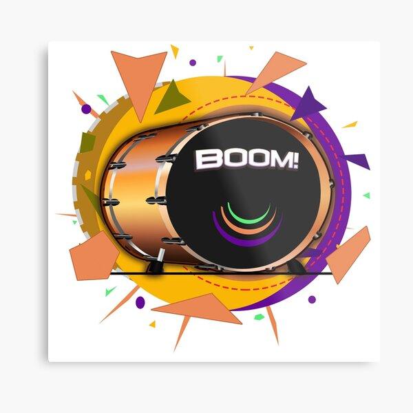 Kick Drum BOOM! Metal Print