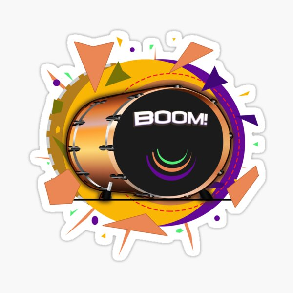 Kick Drum BOOM! Sticker