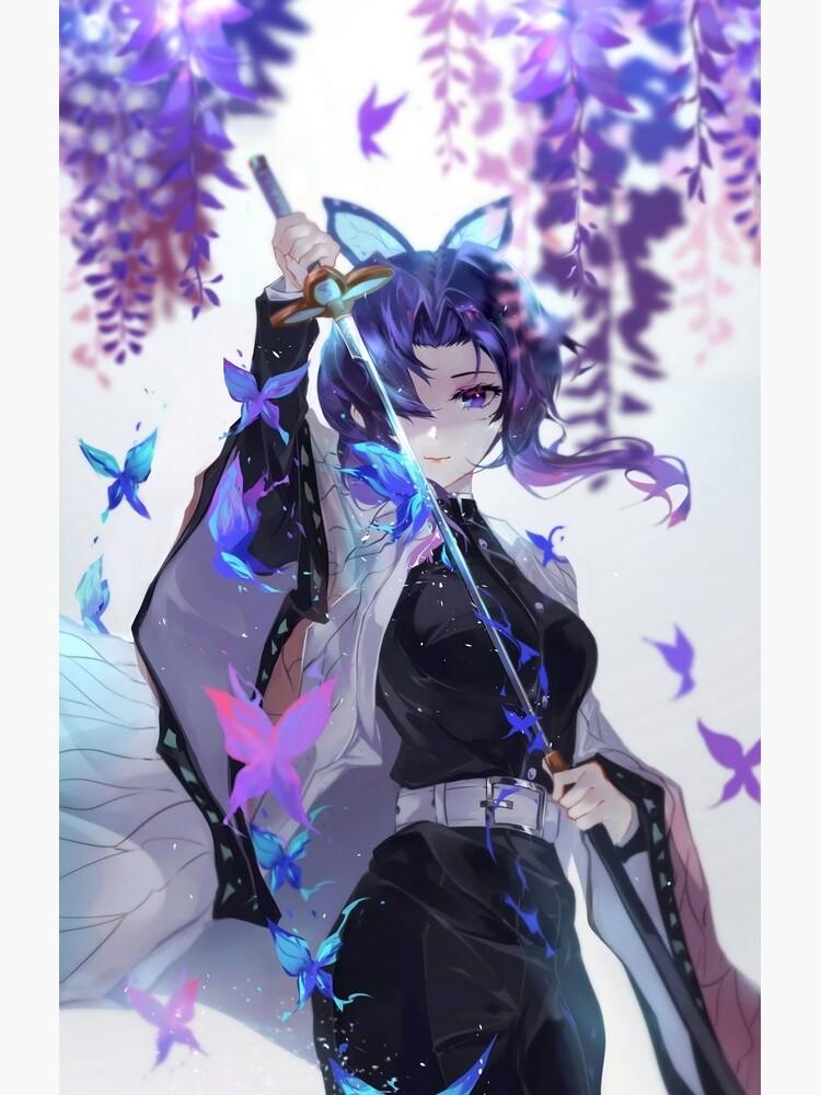 Shinobu Kocho - Demon Slayer Kimetsu no Yaiba Insect Pillar Shinobu Kocho . by KawaiiGaming