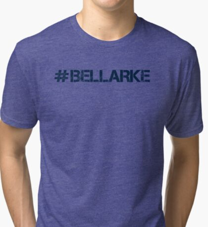 #BELLARKE (Navy Text) Tri-blend T-Shirt