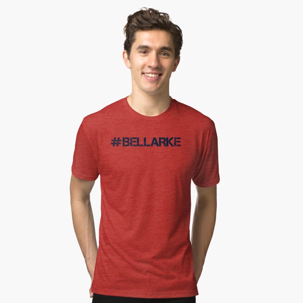 #BELLARKE (Navy Text) Tri-blend T-Shirt Front