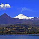 Lake and Volcano Villarrica II by Daidalos