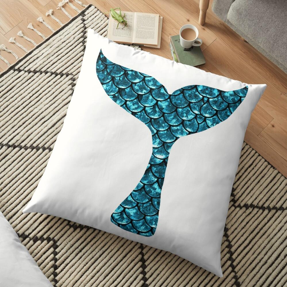 Mermaid Tail - Blue Floor Pillow