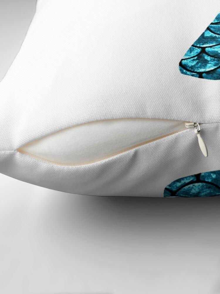 Alternate view of Mermaid Tail - Blue Floor Pillow