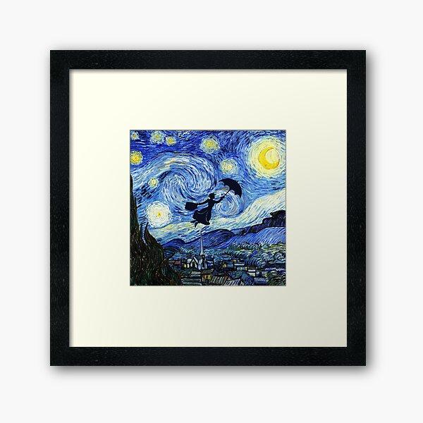 Mary Poppins Starry Night Framed Art Print