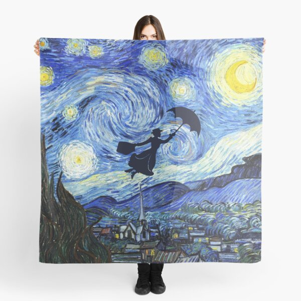 Mary Poppins Starry Night Scarf