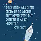 Imagination will carry us by geekinthegarden