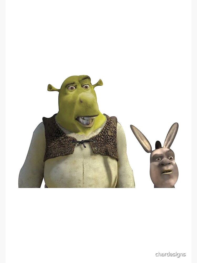 Cursed Shrek And Donkey Greeting Card By Chardesigns Redbubble