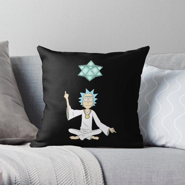 Zen Rick Throw Pillow