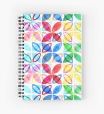 Rainbow Watercolor Pattern  Spiral Notebook