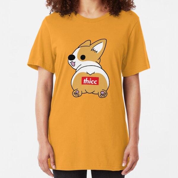 Thicc Corgi Butt Camiseta ajustada