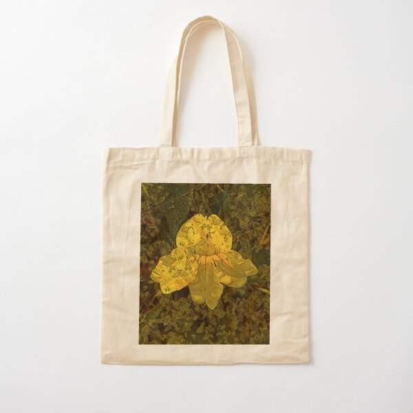 Goodenia Flower on Moss Cotton Tote Bag