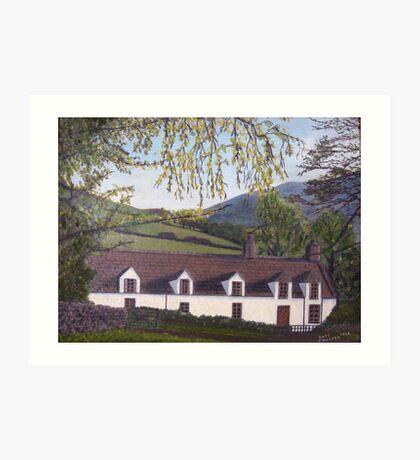 028 - WELSH COTTAGE - DAVE EDWARDS - OIL - c.1980 Art Print