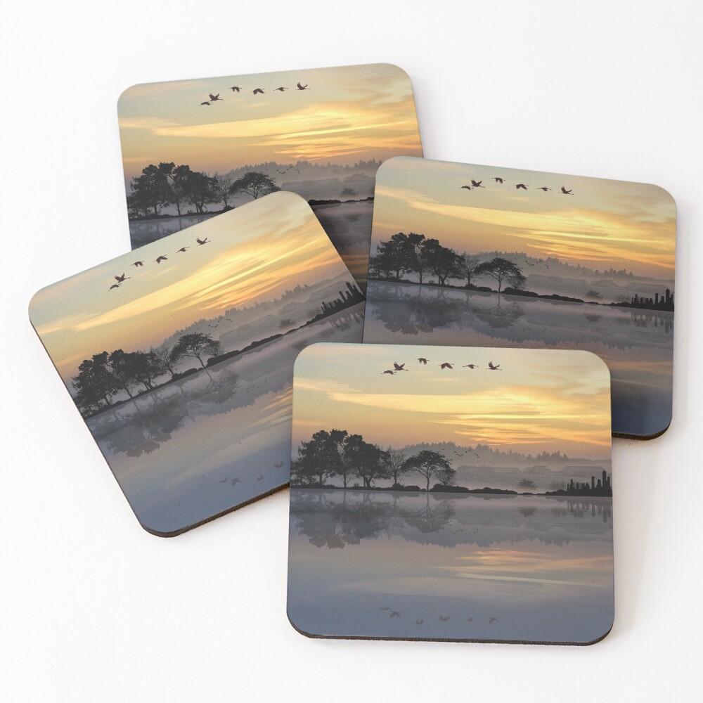 Nature Guitar Sunset Coasters (Set of 4)