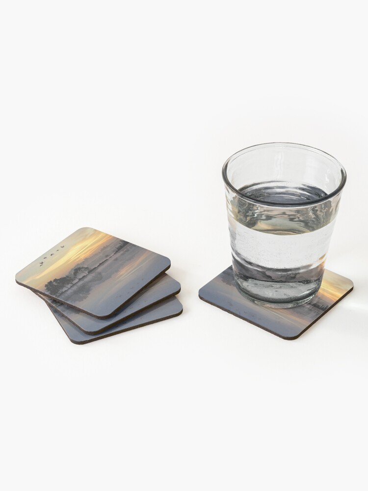 Alternate view of Nature Guitar Sunset Coasters (Set of 4)