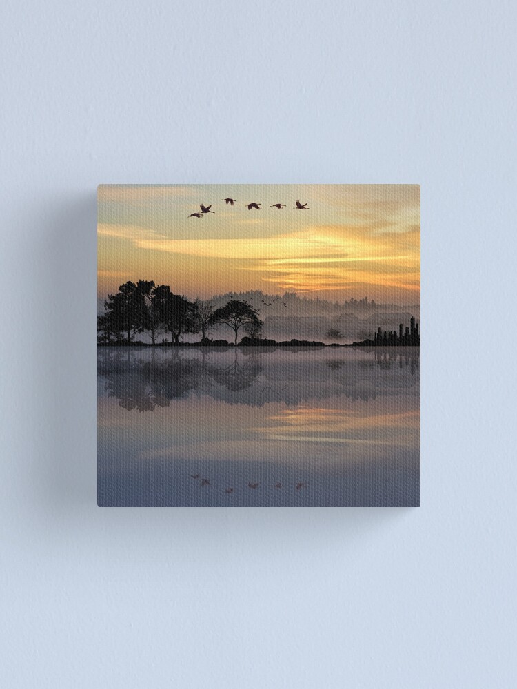 Alternate view of Nature Guitar Sunset Canvas Print