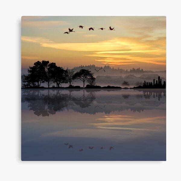 Nature Guitar Sunset Canvas Print