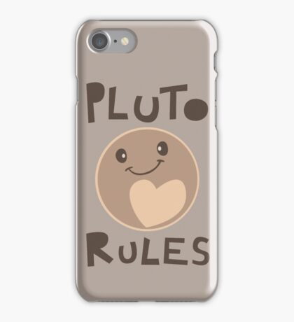 Excuse Me While I Science - Pluto Rules! iPhone Case/Skin