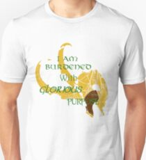 I am burdened with glorious purpose-Green text T-Shirt