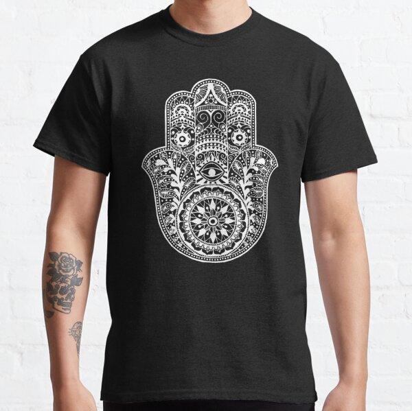 White Hamsa Hand Classic T-Shirt