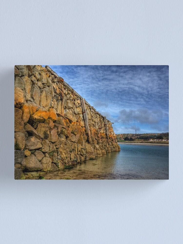 Alternate view of Douglas Quay at Low Tide - Alderney Canvas Print