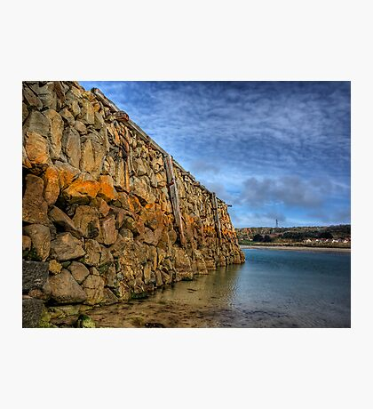 Douglas Quay at Low Tide - Alderney Photographic Print