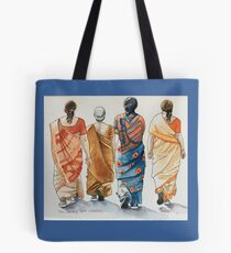 Indian ladies walking group Tote Bag
