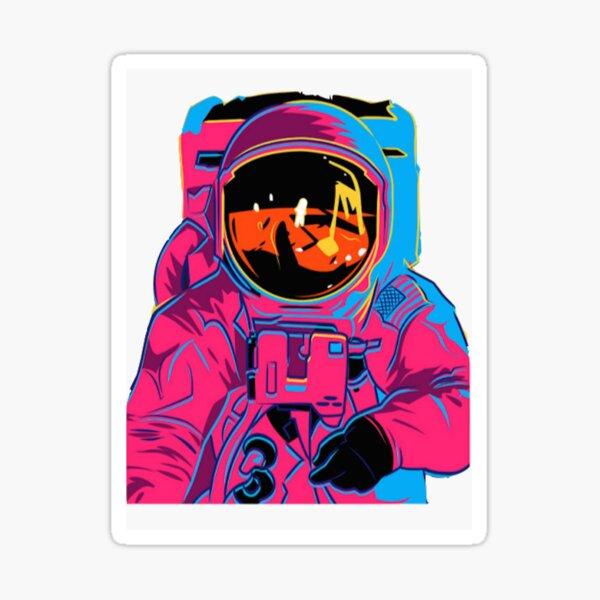 Trippy Rainbow Astronaut Sticker