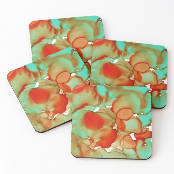 The edges of autumn Coasters (Set of 4)