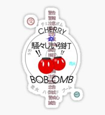 Cherry Bob Omb Transparent Version Sticker