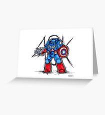 Cap'n Warhammer Greeting Card