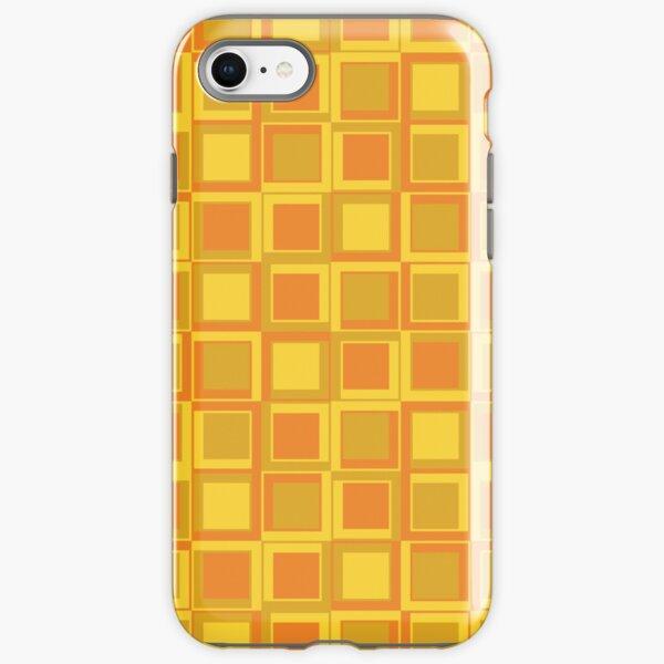 Oranger 70er Jahre Styling Quadrate iPhone Robuste Hülle