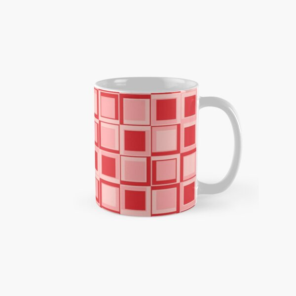 Rote 70er Jahre Styling Quadrate Tasse (Standard)