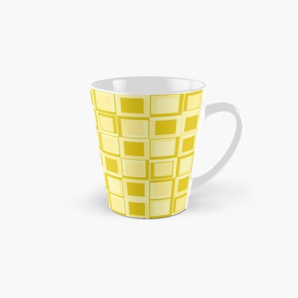 Gelbes 70er Jahre Styling Quadrate Tasse (konisch)