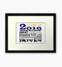 Class of 2016 Traits - Blue/Gold Framed Print